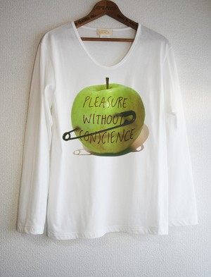 GREEN APPLE PIN LONG T-SH