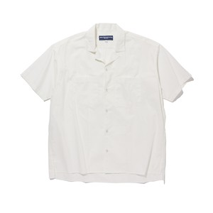 BROAD OPEN COLLAR SHIRT -WHITE