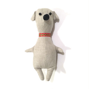 animal doll 赤い首輪の子犬