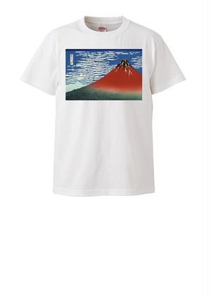 「富嶽三十六景 凱風快晴」Tシャツ