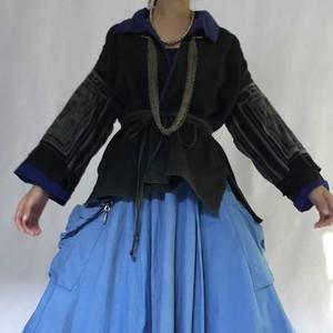 Black Hmong traditional jacket (V5012A)