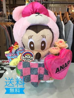 おむつケーキ/オムツケーキ/ANAP/アナップ/出産祝い/誕生祝い/お祝い/ディズニー/ミニー/おむつベビーカー/おむつバイク