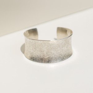 rough textured wide bangle