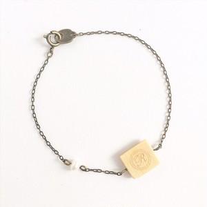 シングルリードのリバーシブルブレスレット  Reversible single reed bracelet ( M )