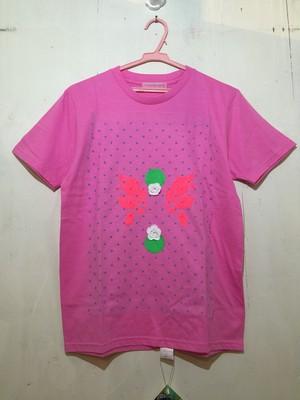 【MIYANISHIYAMA】お花とプリントTシャツ ピンク