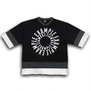 CIRCLE LOGO HOCKEY TEE / BLACK x WHITE