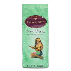 100%コナコーヒーGROUND(挽き済みの粉) ハワイアンパラダイス(7oz 198g) ハワイコナコーヒー