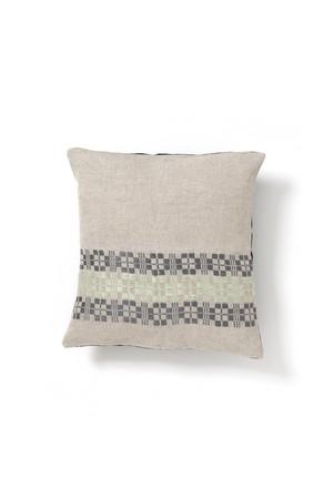 Aya Textile / ムンカベルテ 手織りのクッションカバー  グレー・ペールグリーン