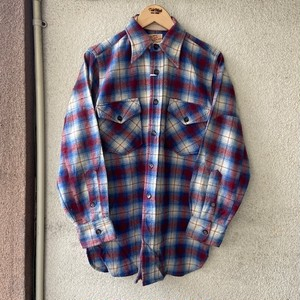 1940's JACK FROST WOOLEN WEAR Wool Shirt  Size・Fit Like M