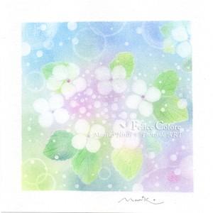 Mariko Hirai フォトdeアート シャボン玉アートパステル原画  【雨上がりのキラッと感♪】