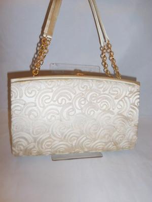 コード刺繍のビィンテージバックbead vintage bag (made in Japan)