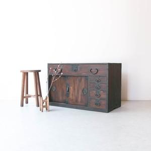 前欅のロー箪笥