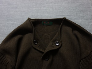 frenchworkers knit cardigan / darkbrown