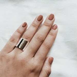Silver925 thick simple ring