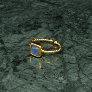 SINGLE MINI STONE RING GOLD 070