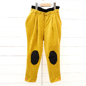 BOXPLEATS WOODY CORDUROY PANTS -BEAR MT KNEE PATCH / WOMEN