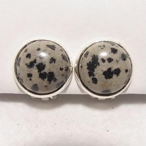 天然石イヤリング ダルマシアンジャスパーの石 コスチュームジュエリーのセール通販 5437E