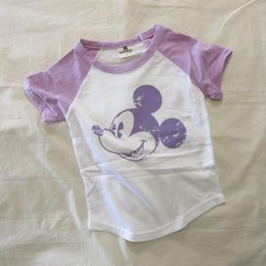 韓国子供服☆90~140㎝ ミッキーラグランTシャツ