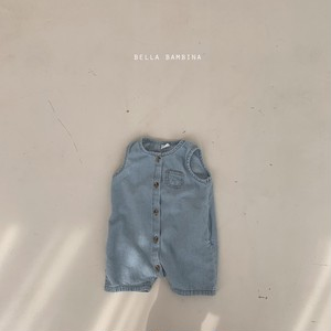 『翌朝発送』denim body-suit〈bella bambina〉【baby】