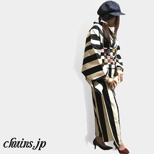 【着物&浴衣】モダンストライプ