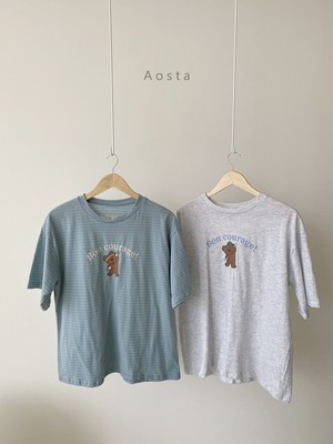 «予約»«ママサイズ» Aosta bear T shirt 2colors ベアーT