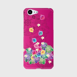 【AQUOS PHONE ZETA (SH-04H)】Tropical Pink トロピカル・ピンク ツヤありハード型スマホケース