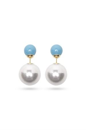Pearl Catch Earrings   Blue