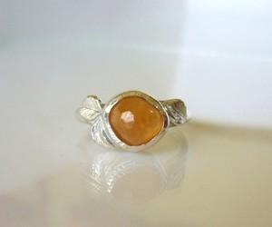 手摺りスペッサータイトガーネットの指輪