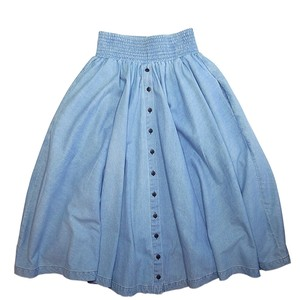 「69」sixty-nine PARACHUTE SKIRT MEDIUM LIGHT DENIM