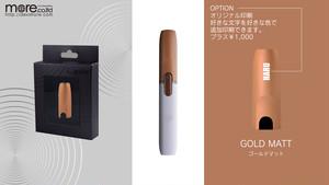 iQOS専用 高品質キャップ ゴールドマット