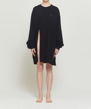Black Distorted Oversized Sweater