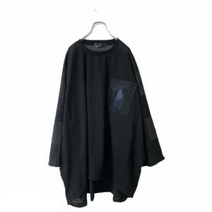 Wide-T-shirts Pocket (black)