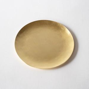 minimal plate <utsuwa-S> / brass