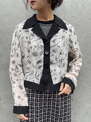 (TOYO) flower pattern short length jacket