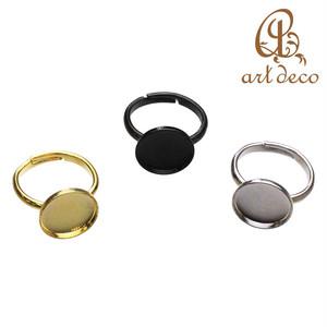 リング 指輪 円形 丸 1個 内径12mm [ri-0311] パーツ アクセサリー オリジナル ハンドメイド 材料 卸 装飾 カラワク 空枠 問屋 卸売り