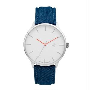 KHORSHID DENIM【CHPO】 Silver dial. Blue denim strap