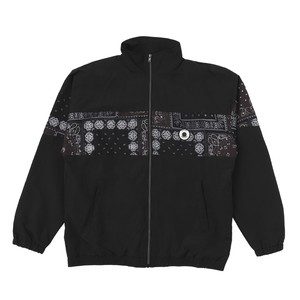 EXAMPLE PAISLEY RUBBER PATCH TRACK JAKET / BLACK