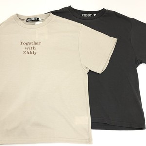 ZIDDY ジディー ラテ ロゴ プリント デイリー Tシャツ 1235-340429