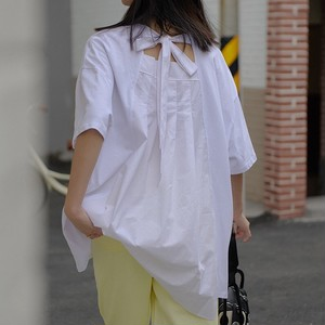 3色/バックカットネックシャツ ・2731