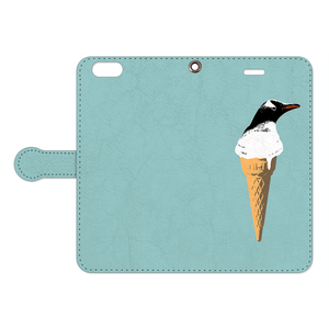 [手帳型iPhoneケース] cool biz penguin 2
