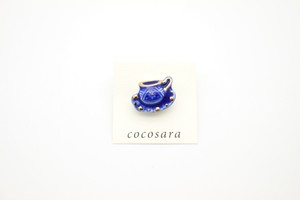 有田焼ブローチ コーヒーカップ(青)