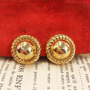 vintage france gold earring