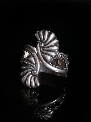 Vintage Mexican Art Deco Wing Clamper Bracelet