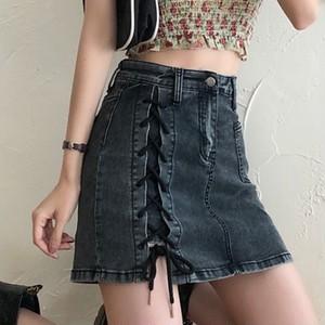 【ボトムス】ファッションフェミニンボウタイハイウエストスカート43754405