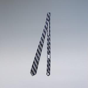 【メール便対応】THOM GREY トムグレイ レジメンタル+小紋刺繍 シルクネクタイ グレー