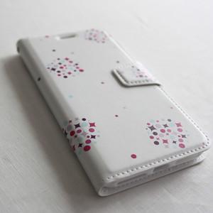 日々の暮らしに寄り添う 〔amane cu スマートフォンケース(ハードタイプ)〕 kusudama 【胡粉色】- iPhone X