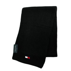 トミーヒルフィガー TOMMY HILFIGER マフラー メンズ レディース H8C83203 001 ブラック ブラック