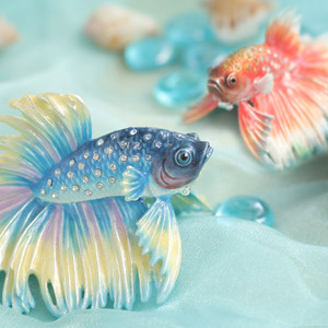 小さな宝石箱 ジュエリーボックス ベタ(闘魚)