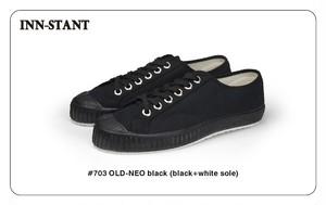 #703 OLD-NEO black(black+white sole) INN-STANT インスタント 【税込・送料無料】