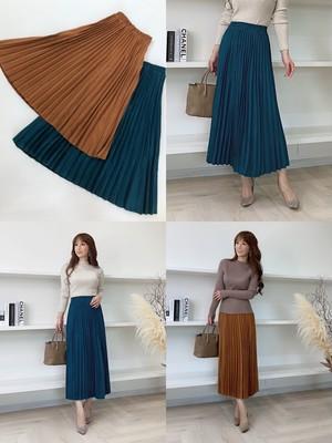 しっとり♡スエードプリーツスカート ¥6,300+tax